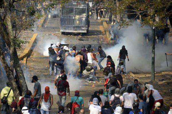 Protests began a month ago over food shortages, inflation and Venezuela's high murder rate.