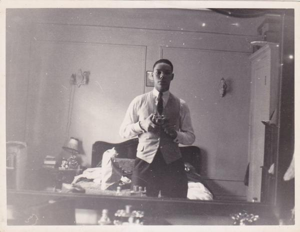 Colin Powell takes a selfie circa 1954.