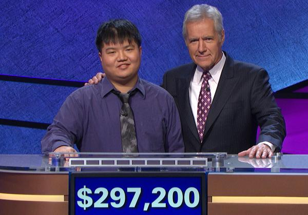 <em>Jeopardy!</em> contestant Arthur Chu was defeated on Wednesday's episode after amassing nearly $300,000.