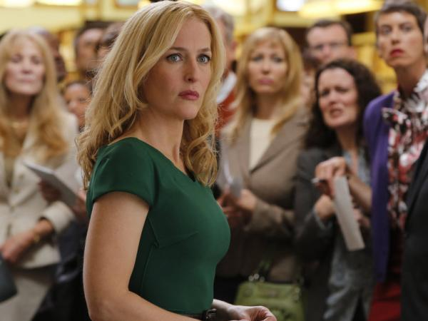 Gillian Anderson plays Meg Fitch, a parent of one of the kidnapped children.