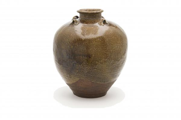 This stoneware and iron glaze tea leaf storage jar called Chigusa was created in China, in the mid-13th to mid-14th century. Once the workaday storage jugs reached Japan, they became objects of aesthetic contemplation and reverence.