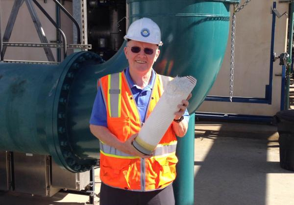 Ron Wildermuth is pictured at the The Edward C. Little Water Recycling Facility. (Jeremy Hobson/Here & Now)
