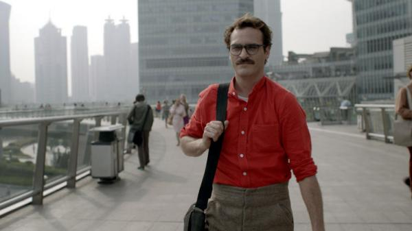 "Joaquin Phoenix is pictured in the film ""Her."""