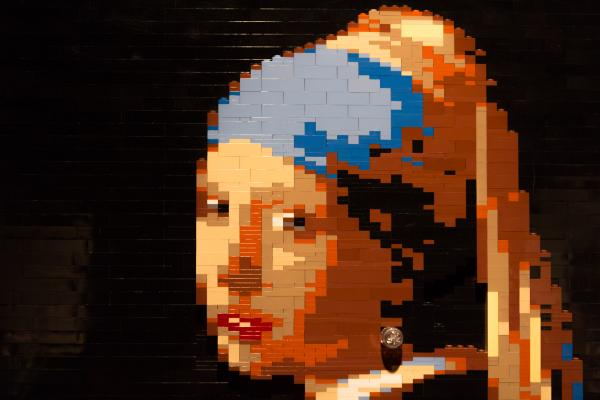 <em>Girl With A Pearl Earring </em>by artist Nathan Sawaya.