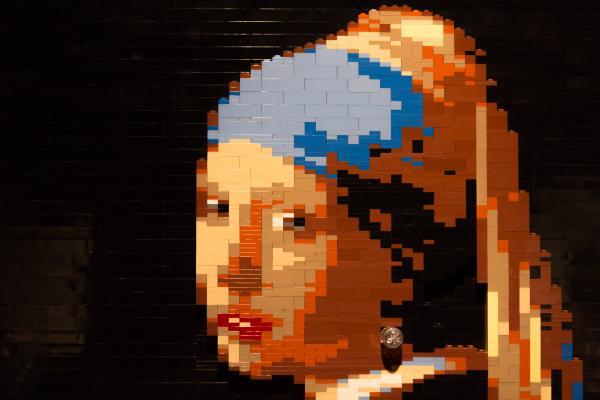 <em>Girl With A Pearl Earring </em>by artist Nathan Sawaya.