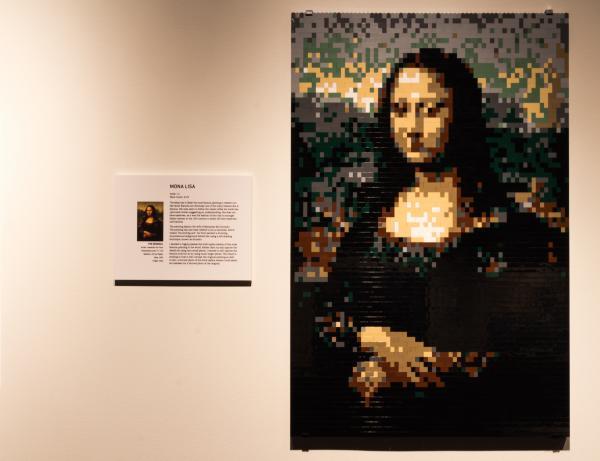 <em>Mona Lisa </em>by artist Nathan Sawaya.