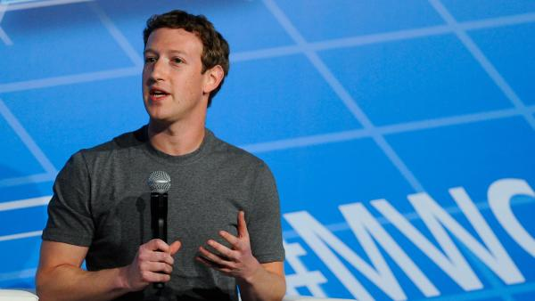 Co-Founder, Chairman and CEO of Facebook Mark Zuckerberg speaks during his Feb. 24 keynote address at the Mobile World Congress 2014 in Barcelona, Spain.