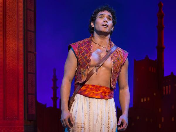 From a mixed heritage, Adam Jacobs plays Aladdin in the Disney Broadway production of the same name.
