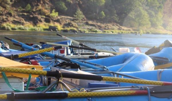 Rafts waiting to be deployed on the Rogue River in 2013. Federal water managers say despite drought conditions, one of the Rogue's key reservoirs on on track to be filled with water. That means enough water to keep rafters and jet boats afloat in 2014.
