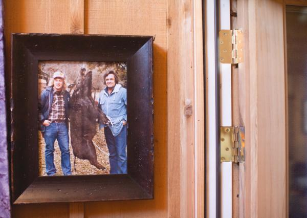 A vintage snapshot hangs in the cabin outside Nashville where Johnny Cash and June Carter spent much of their later years.