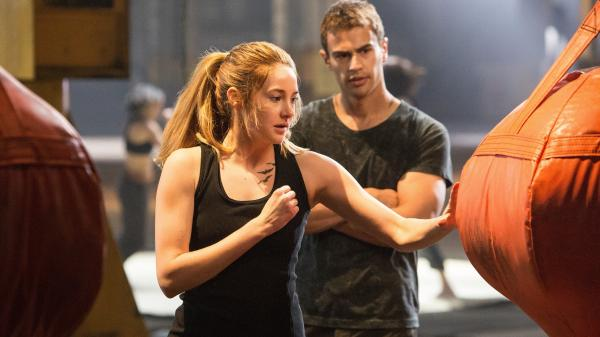 Shailene Woodley and Theo James in <em>Divergent</em>. Can you see the rebellion?