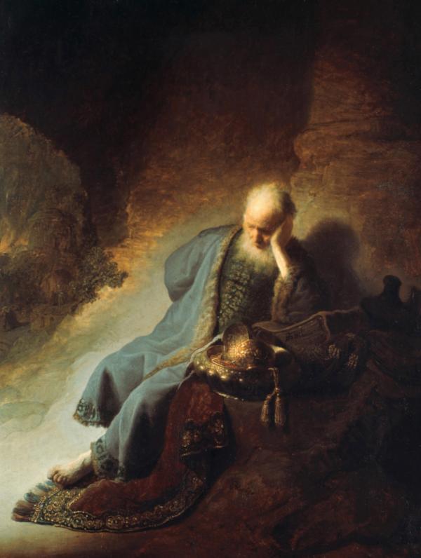 <em>Jeremiah Lamenting the Destruction of Jerusalem</em>, 1630, Rembrandt