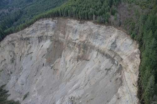 The following images were taken on March 24 during an aerial survey conducted by the Washington State Department of Transportation, Washington State Department of Natural Resources, U.S. Geological Survey, and King County Sheriff's Office. (King County Sheriff's Office - Air Support Unit)