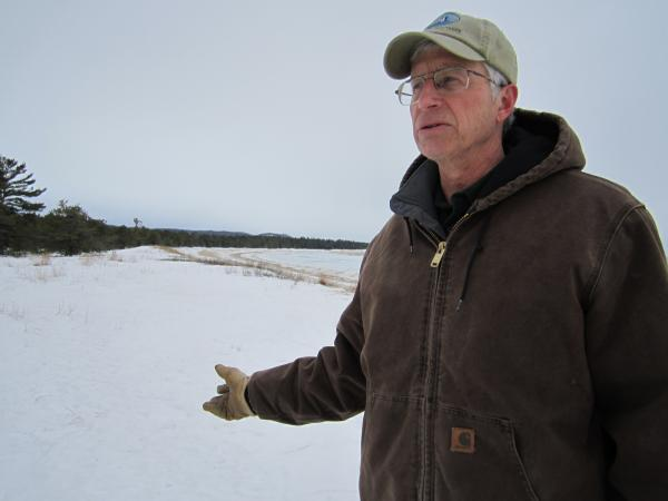 Brian Price of the Leelanau Conservancy at Good Harbor Bay, one of his favorite spots in the Sleeping Bear Dunes National Lakeshore.