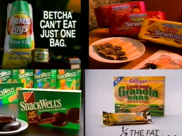 The 1990s were rife with low-fat packaged snacks, from potato chips to cookies.