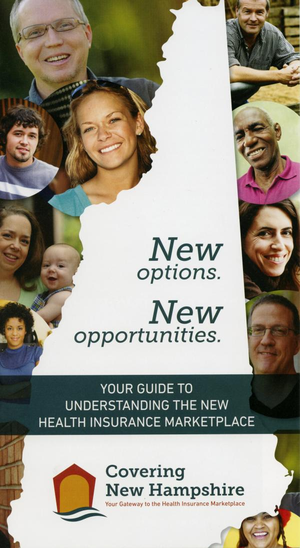 One of the brochures used to promote health insurance enrollment in New Hampshire.
