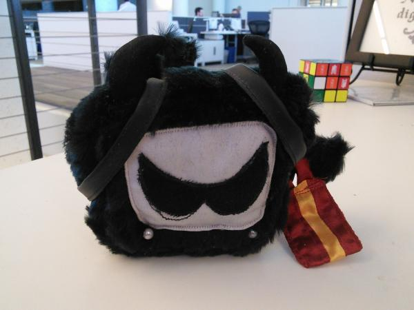 Tubey, the Television Without Pity mascot, rendered as a plush toy.