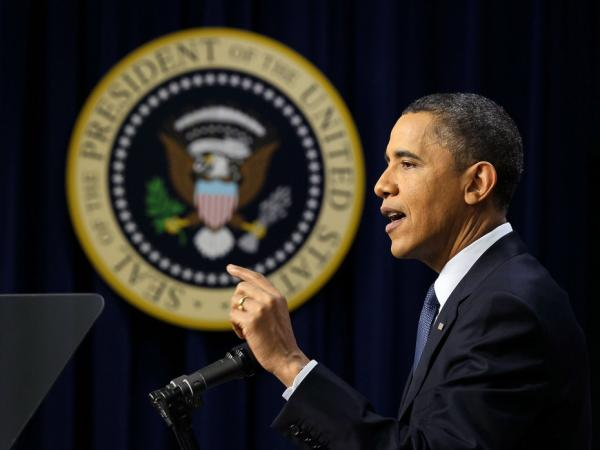 President Obama at a news conference, March 11, 2011.