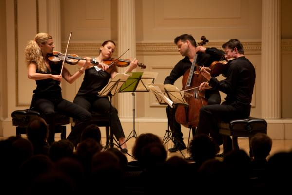 The Pavel Haas Quartet (Veronika Jaruskova and Eva Karova, violins; Pavel Nikl, viola; and Peter Jarusek, cello) gave an intimate and richly realized concert of music by Tchaikovsky, Shostakovich and Smetana at Carnegie Hall's Weill Recital Hall on April 27, 2012.