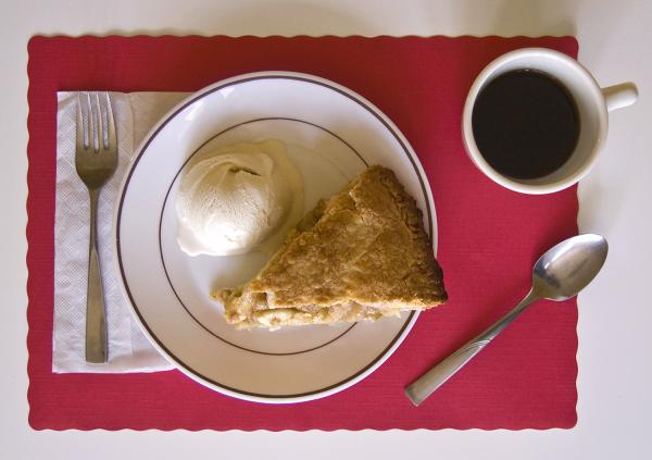 """I ate apple pie and ice cream — it was getting better as I got deeper into Iowa, the pie bigger, the ice cream richer."" (<em>On the Road</em>)"