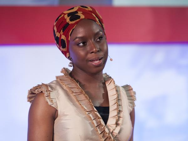 Novelist Chimamanda Adichie at the TEDGlobal conference in 2009.