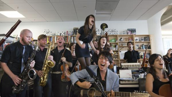 Mother Falcon performs a Tiny Desk Concert in July 2013.