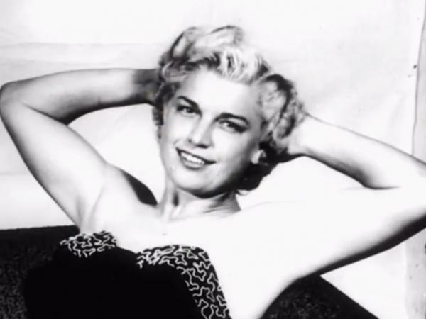 A still image from a WWE video tribute to Mae Young shows the famed wrestler during the early years of her career. Young died last week in South Carolina.