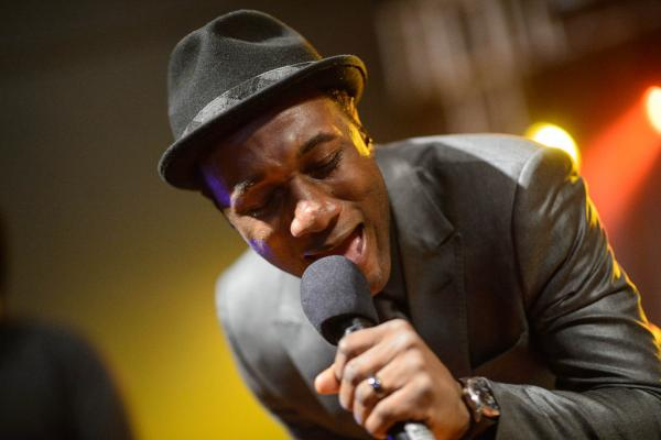"Aloe Blacc, the songwriter behind Avicii's massive ""Wake Me Up,"" lays down some soul at Stubb's for Def Jam's 30th anniversary party."