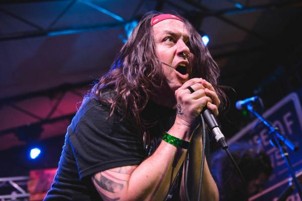 """Here are five songs from our new record. Please give us two minutes of your time."" Iron Reagan — a hardcore band featuring members of Municipal Waste and Darkest Hour — keeps it simple at Mohawk."