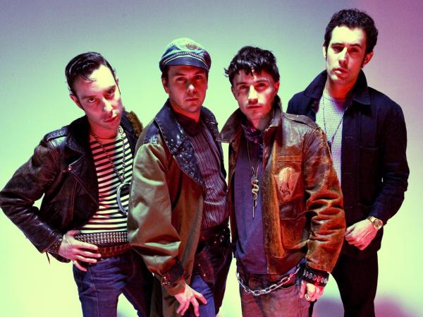 Black Lips' latest album is <em>Underneath the Rainbow</em>. Left to right: Jared Swilley, Joe Bradley, Cole Alexander, Ian St. Pé.