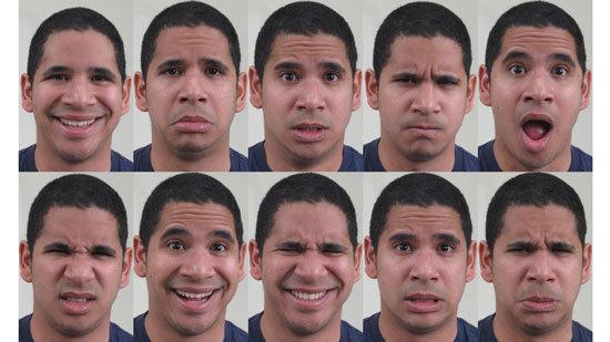 Can you name the 10 emotions conveyed above? The first six are basic emotions. The last four are complex emotions that combine two of the basic ones. (Check at the bottom for the answers.)