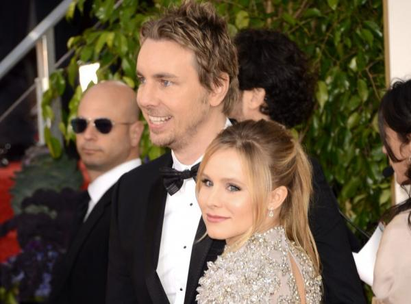 Actor Dax Shepard and actress Kristen Bell arrive at the 70th Annual Golden Globe Awards on January 13, 2013 in Beverly Hills, California. They have launched a social media campaign to keep celebrities' children out of photographs unless the parents give consent. (Jason Merritt/Getty Images)