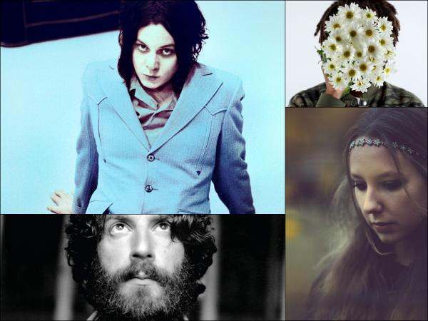 Clockwise from upper left: Jack White, Teebs, Lyla Foy, Ray LaMontagne