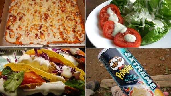 Tomatoes, pizza, Pringles — Americans are not afraid to douse everything in ranch.