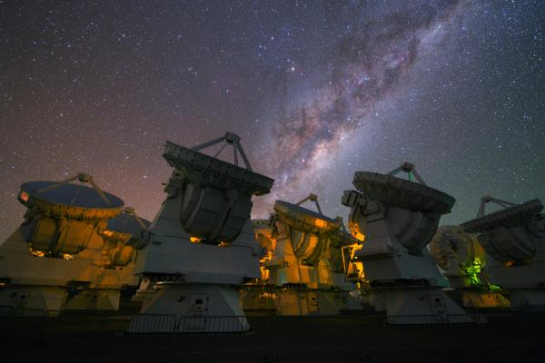 "Observing the multitude of galaxies in our own universe is a piece of cake. Observing the multiverse, if such a thing exists, seems impossible. Above, the Milky Way rises above the <a href=""http://www.eso.org/public/teles-instr/alma/"">ESO's ALMA observatory</a> in Chile."