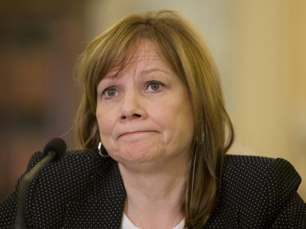 General Motors CEO Mary Barra as she testified Wednesday on Capitol Hill.