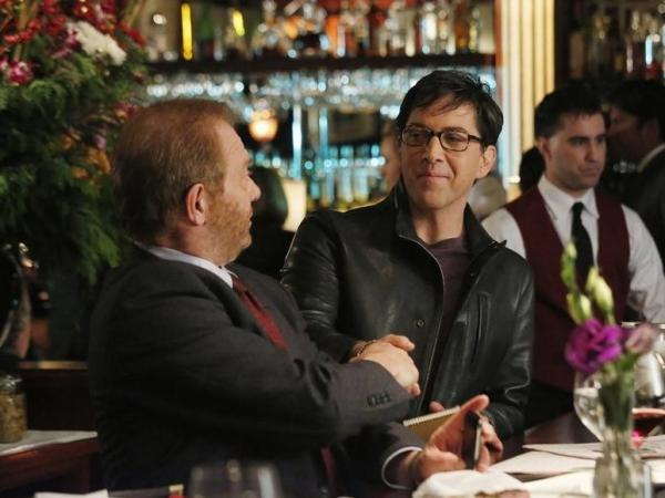 Jeff Perry (left) and Dan Bucatinsky  play Cyrus Beene and James Novak in ABC's <em>Scandal</em>.
