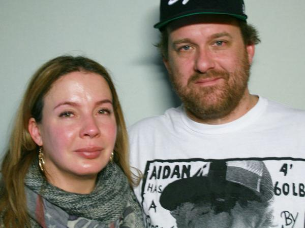 Elisa and Bobby Seeger remember their son, Aidan, on a visit to StoryCorps in Brooklyn.
