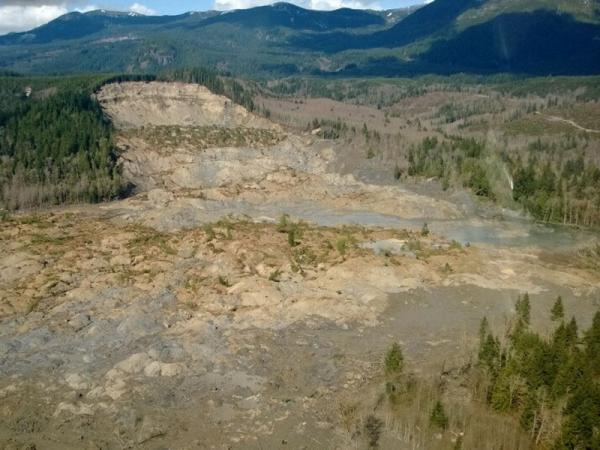 File photo of the massive landslide that hit Snohomish County in March.