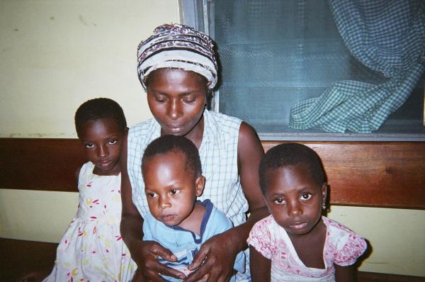Salomey Tetteh says her three children were healthy when she used the clay water filter Baffour and Hunt donated to her and 54 others in Kordiabe. Her children broke it, and now are not as healthy as they were when she used the water filter.