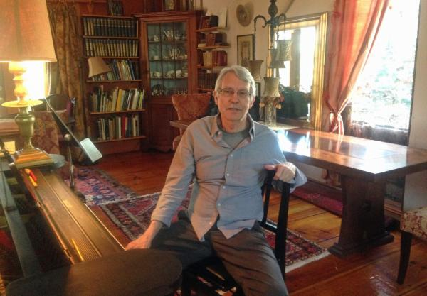 John Harbison is pictured at his home in Cambridge, Mass. (Robin Young/Here & Now)