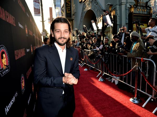 Director Diego Luna arrives at the premiere of <em>Cesar Chavez</em> on March 20 in Los Angeles.