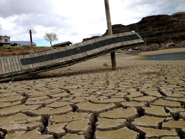 Boat launches and docks have been left high and dry from the drawdown of water behind the damaged Wanapum dam.
