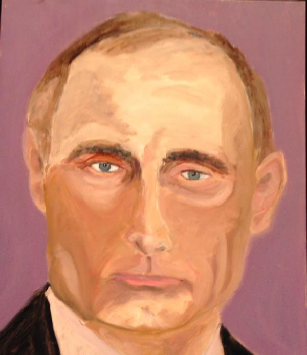 President Bush's portrait of Vladimir Putin, the Russian president.