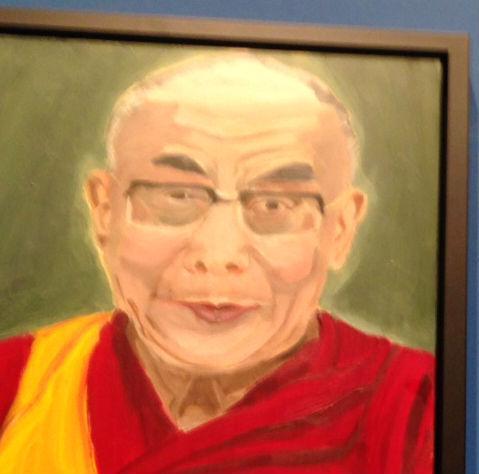 Former President George W. Bush's portrait of the Dalai Lama.