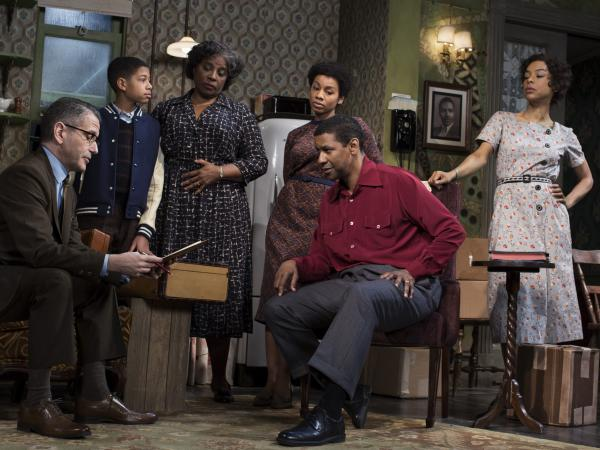 Ten years after first directing <em>A Raisin in the Sun</em> on Broadway, Kenny Leon is back with a new rendition of the play, starring Denzel Washington and Sophie Okonedo. (Also pictured, from left: David Cromer, Bryce Clyde Jenkins, LaTanya Richardson Jackson and Anika Noni Rose).