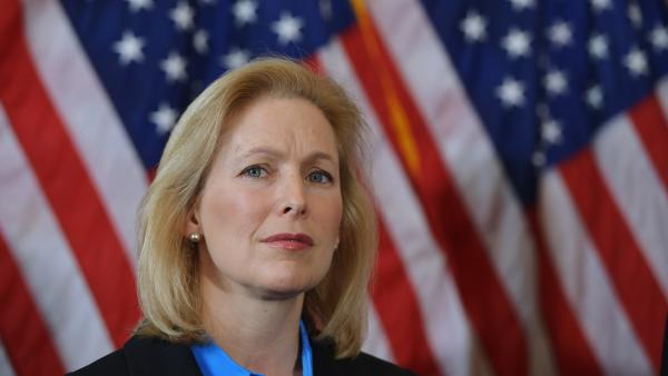 Sen. Kirsten Gillibrand, D-N.Y., attends a press conference calling for the creation of an independent military justice system to deal with sexual harassment and assault in the military on Feb. 6.