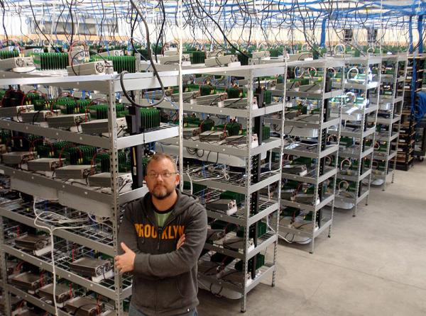 MegaBigPower CEO Dave Carlson inside North America's biggest bitcoin 'mine.'