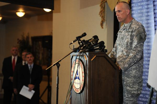 At an April 7 press conference, Col. Paul Reese, III Corps and Fort Hood chief of operations, gave further details of the investigation into the April 2 shooting incident.