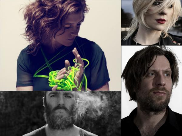 Clockwise from upper left: Mirah, Brody Dalle, Fennesz, Chet Faker
